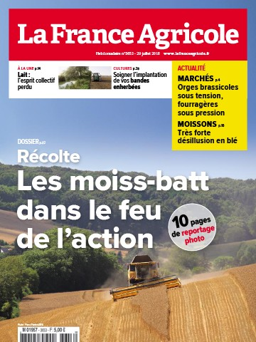 Couverture du magazine La France Agricole n°3653