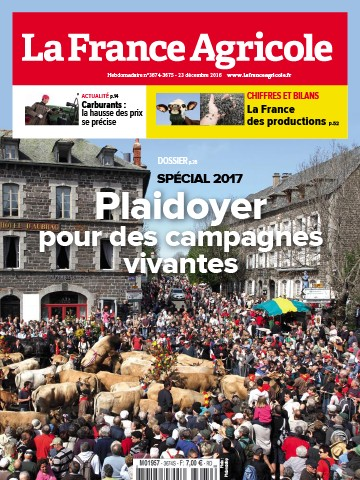 Couverture du magazine La France Agricole n°3674