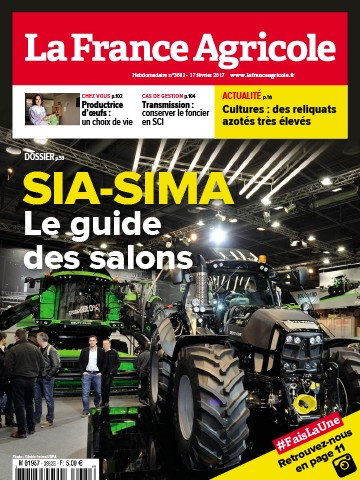 Couverture du magazine La France Agricole n°3682