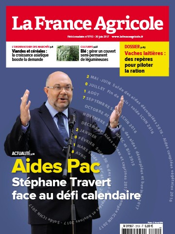 Couverture du magazine La France Agricole n°3702
