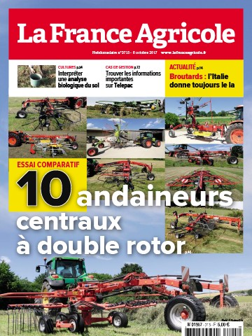 Couverture du magazine La France Agricole n°3715