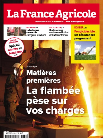 Couverture du magazine La France Agricole n°3723