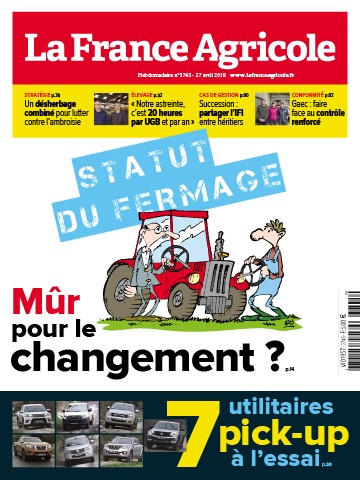 Couverture du magazine La France Agricole n°3745