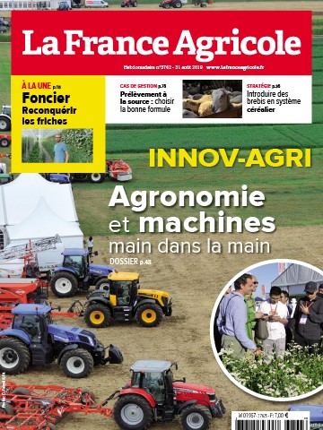 Couverture du magazine La France Agricole n°3762
