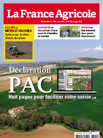 Couverture du magazine La France Agricole n°3794