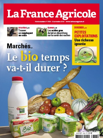 Couverture du magazine La France Agricole n°3826