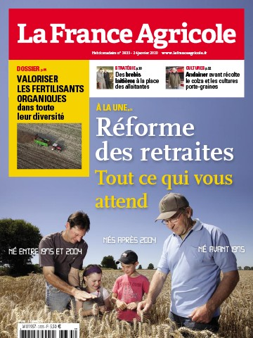 Couverture du magazine La France Agricole n°3835