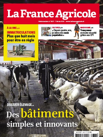Couverture du magazine La France Agricole n°3837