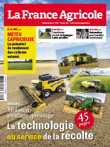 Couverture du magazine La France Agricole n°3854