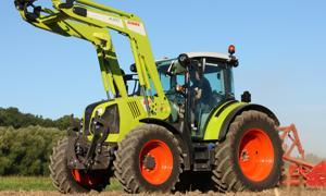 Claas Arion 400   - La transmission Hexashift des grands