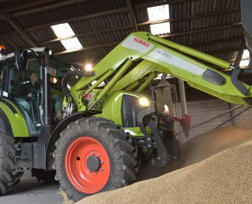 Test comparatif de tracteurs de 120 ch - Le Claas Arion 400 CIS